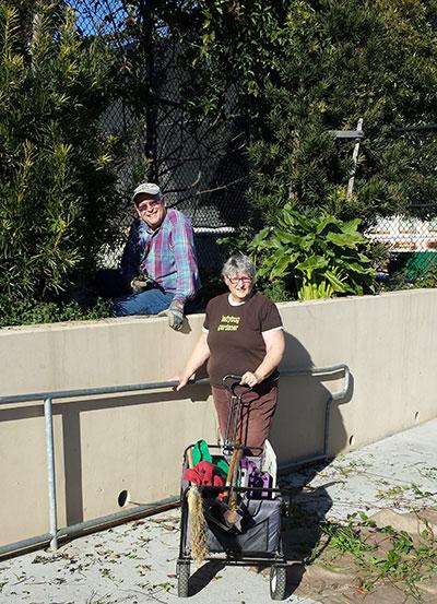 Ladybug gardeners Walter and Joan
