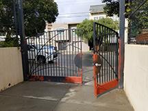 Gates are prepared with red primer.