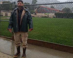 Frankie Macuer, gardening supervisor
