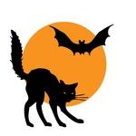 halloween-cat-bat