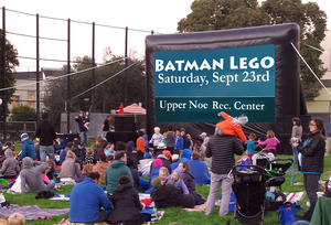 Batman Lego playing Sept 23 at Upper Noe